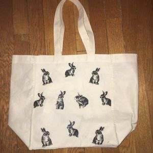 ✨ 12 in. X 11.5 in. Bunny Tote Canvas Bag ✨
